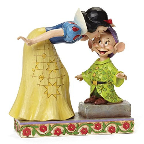 "Department 56 Disney Traditions by Jim Shore Snow White Kissing Dopey Figurine, 6"" - SHOPME.COM"
