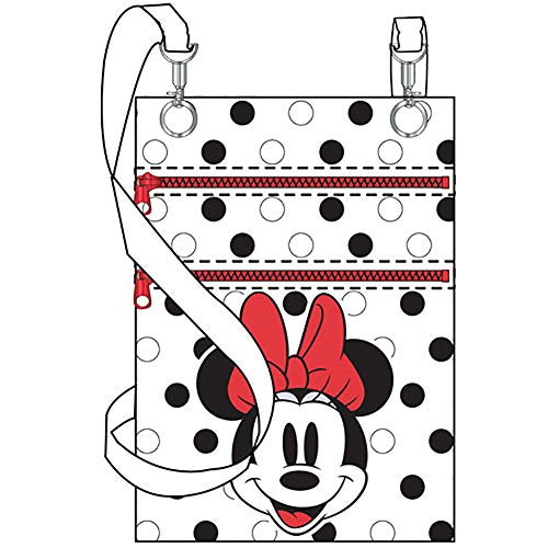 Disney Minnie Mouse Stylish Womens Passport Travel Wallet Bag - Black White Red