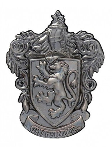 Harry Potter Gryffindor School Crest Pewter Lapel Pin - SHOPME.COM