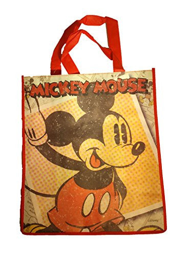 Disney Vintage Mickey,Minnie Mouse Tote Bag Reusable Grocery Bags Large Size(Pick your Style)