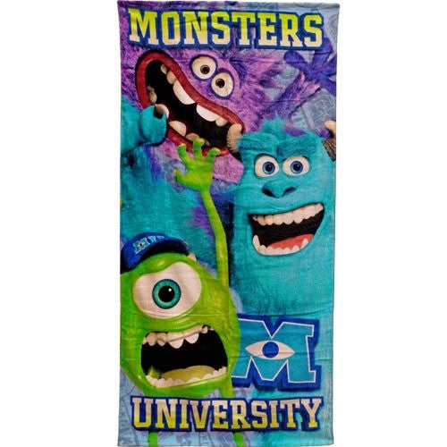 Disney Pixar Monsters University Beach Towel - SHOPME.COM