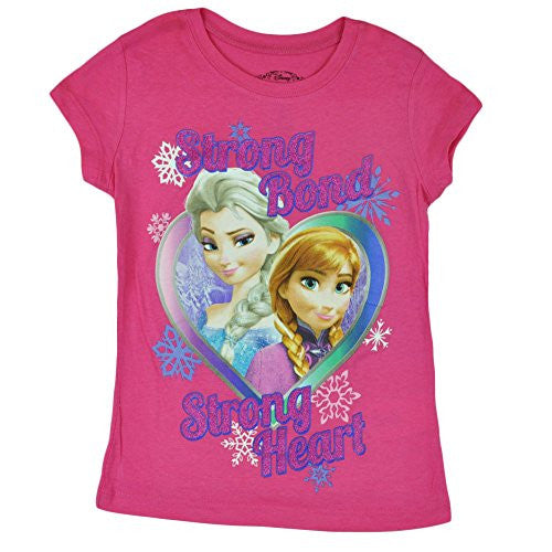 Disney Frozen So Cool Sister Bond Elsa Anna Kids Girls Tshirt Tee Pink - SHOPME.COM