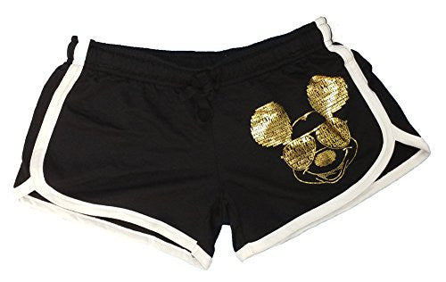 Disney Mickey Mouse Women's shorts (Gold And Black)