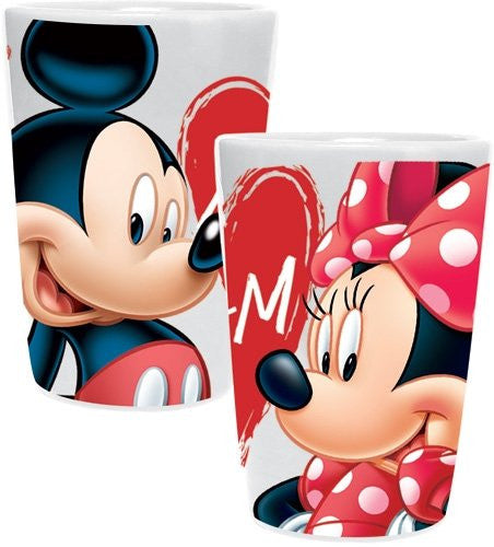 Disney Mickey Minnie Mouse Hearts, Ceramic Collector Cup Shotglass - SHOPME.COM