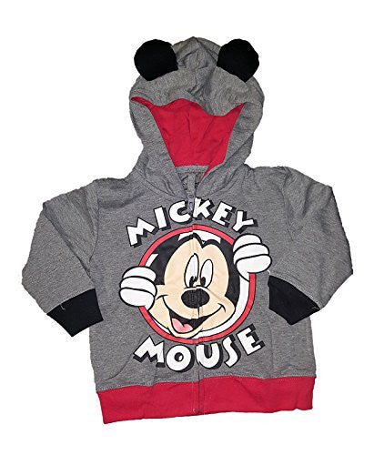 Disney Baby Mickey Mouse or Minnie Mouse Toddler Fashion Sweat Shirt Hoodie (Sizes Vary) - SHOPME.COM