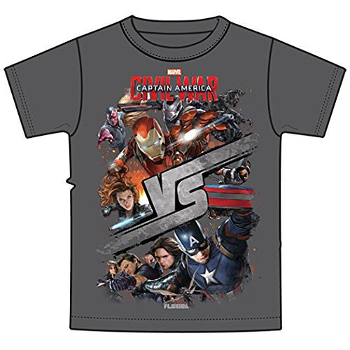 Marvel Captain America Iron Man Black Widow Clint Barton Youth Boys T Shirt Tee - SHOPME.COM