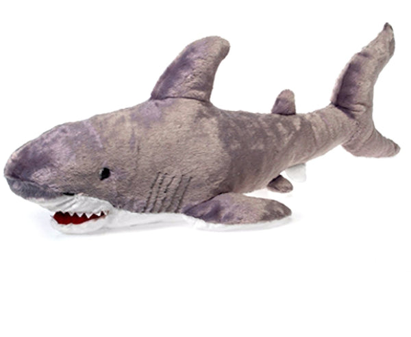 "29.5"" Large Shark Plush Stuffed Animal Toy by Fiesta Toys - SHOPME.COM"
