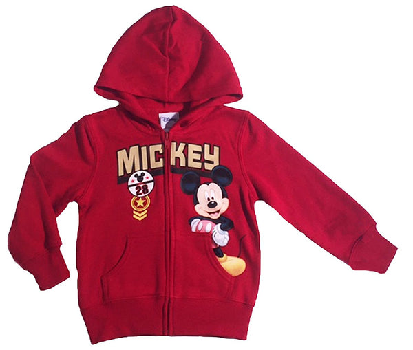 Disney Mickey Mouse Little Boys Toddler Zip Hoodie - SHOPME.COM