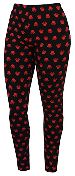 Disney Minnie Mouse Silhouette Minzana Leggings Junior Women - SHOPME.COM