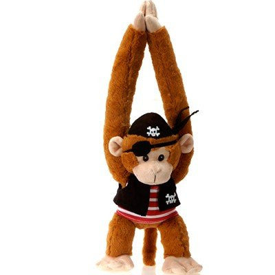 "Fiesta Toys Pirate Monkey Boy Plush Stuffed Animal Toy - 20"" - SHOPME.COM"