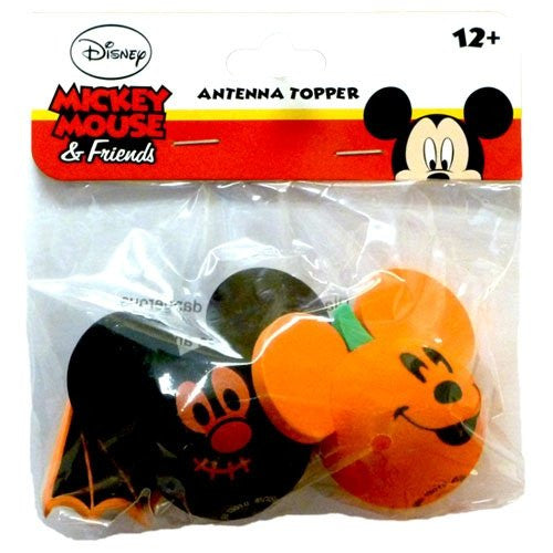 "Disney Mickey Mouse ""Pumpkin & Bat"" Antenna Toppers - SHOPME.COM"