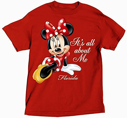 Disney Minnie Mouse 'It's All About Me' Girls T Shirt - Red - SHOPME.COM