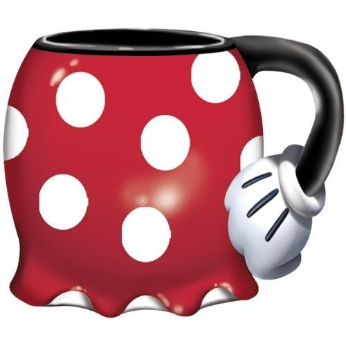 Disney Minnie Mouse Shorts Jumbo 18oz Scuplted Mug Tea Coffee - SHOPME.COM