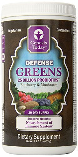 Genesis Nutrition Today Defense Green Canister, 16.8 Ounce
