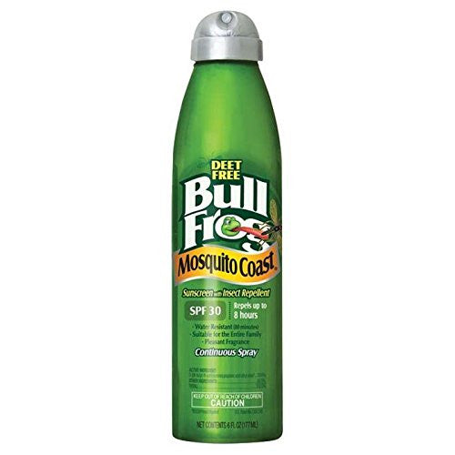 Bull Frog Mosquito Coast Spray Sunscreen with Insect Repellent, 6 Ounce - SHOPME.COM