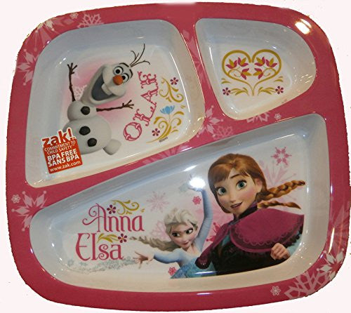 Disney's Frozen - 3 Section Plate - SHOPME.COM