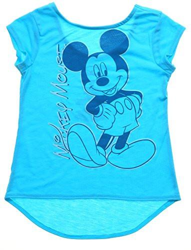 Disney Mickey Mouse Signature ,Youth Girls Fashion Top Hilo, Light Blue - SHOPME.COM
