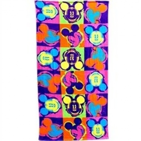 Disney® Mickey Mouse Pop Art Beach Towel - Soft - SHOPME.COM