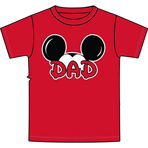 Disney Adult Plus Size Mens T-Shirt Dad Family Tee - SHOPME.COM