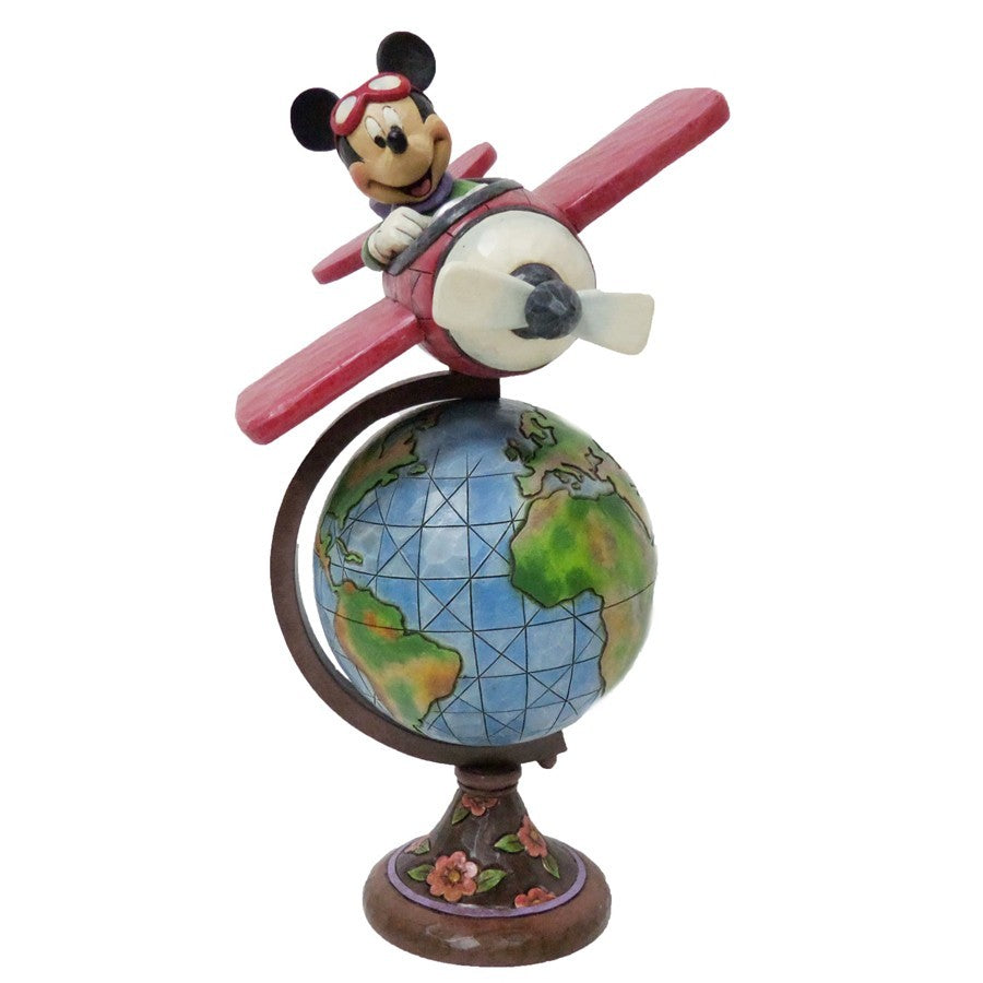 Disney Traditions Globetrotting Aviator Mickey Mouse Statue by Jim Shore - SHOPME.COM