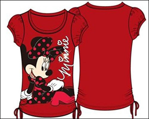 Disney Youth Girls Fashion Top Side Tie On the Ground Minnie Red - SHOPME.COM