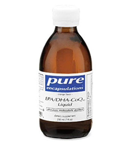 Pure Encapsulations - EPA/DHA-CoQ10 - Ultra-Pure Molecularly Distilled Fish Oil / CoQ10 Concentrate - Orange Flavor - 200 ml (7 fl oz) - SHOPME.COM