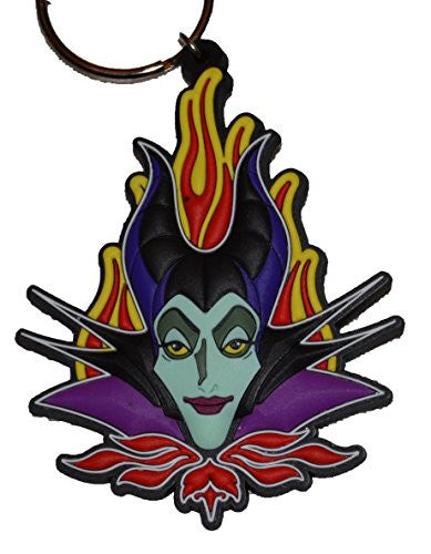 Authentic Disney Maleficent Lasercut Keychain w/ Free Disney Stickers (Key Ring) - SHOPME.COM