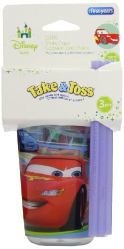 Disney Take and Toss Straw Cup, 3 Pack by The First Years/Learning Curve - SHOPME.COM
