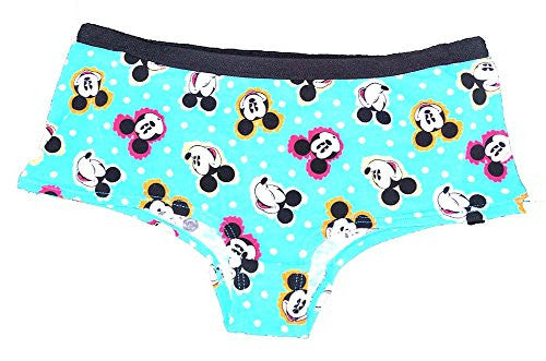 Disney Mickey Mouse Heads Blue Pantie Missy Sizing - SHOPME.COM