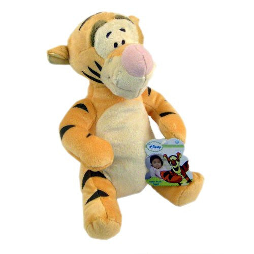 "Disney Winnie-the-Pooh ""Tigger"" Super-soft Plush Baby Rattle Doll - SHOPME.COM"