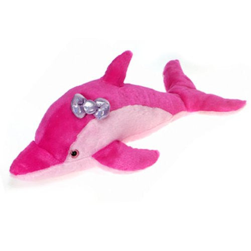 "22.5"" Pink Dolphin with Bow Plush Stuffed Animal Toy by Fiesta Toys - SHOPME.COM"