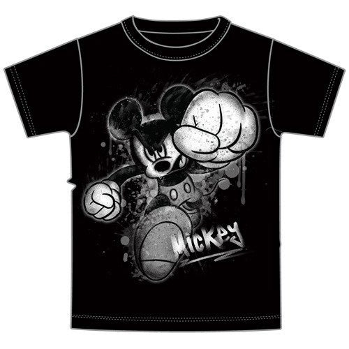 Disney Mickey Mouse SMASH Boys T Shirt - Black - SHOPME.COM