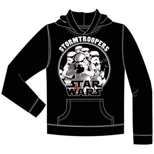 Star Wars Youth Storm Troopers Pullover Hoodie, Black - SHOPME.COM
