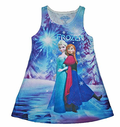 Disney Frozen Anna & Elsa Sleeveless Lightweight Sublimated Dress