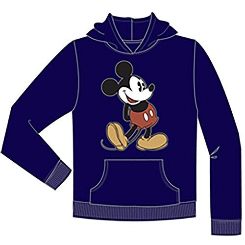 Disney Mickey Mouse 'Head to toe' Pullover adult sweater Jacket- Navy - SHOPME.COM