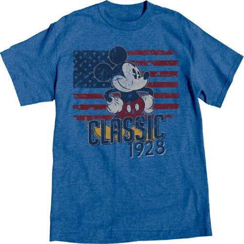 Disney Adult Mens T-shirt 1928 Classic Mickey Mouse, Small - SHOPME.COM