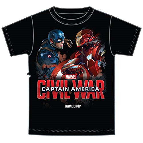 Marvel Captain America Iron Man Youth Boys Tee T Shirt Fashion Shirt - SHOPME.COM
