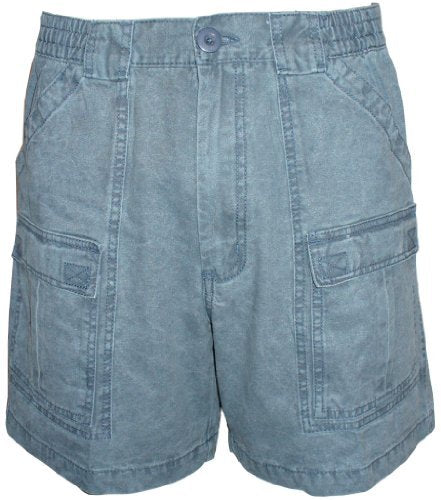 Talos Men's Canvas Cargo Short Blue