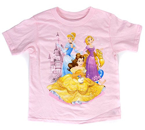 Disney Aurora Snow White Belle Tee Toddler Girls T Shirt Princess Pals Fashion Top - SHOPME.COM