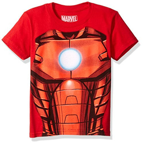 Marvel Boys' Little Boys' Iron Man T-Shirt, Mesh Red, 4