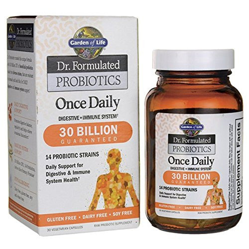 Garden of Life Probiotic Supplement - Dr. Formulated Once Daily for Digestive Health, 30 Capsules - SHOPME.COM