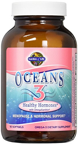 Garden of Life Ultra Pure EPA/DHA Omega 3 Fish Oil - Oceans 3 Healthy Hormone Dietary Supplement with Antioxidants, 90 Softgels - SHOPME.COM