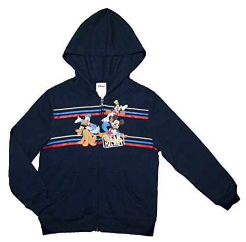 Disney Mickey Mouse Little Boys Hooded Zip up Fleece Sweatshirt - SHOPME.COM