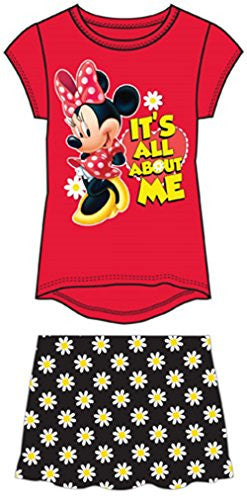 Disney Youth Girls Girls Skirt Set Minnie Mouse All About Me Red - SHOPME.COM