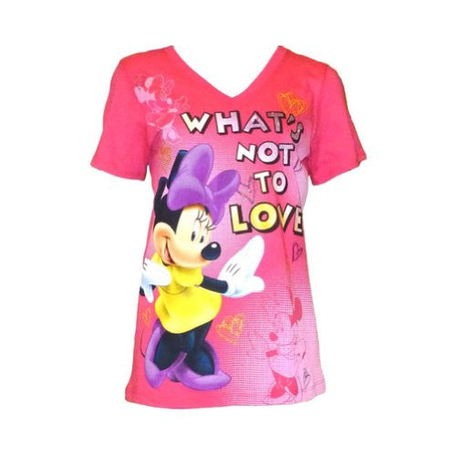 Disney Girls Missy V Neck Minnie Mouse What Not To Love T-Shirt - SHOPME.COM