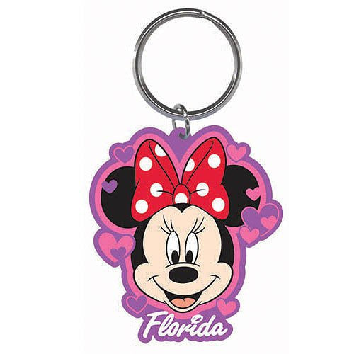 Disney Minnie Hearts Lasercut Keychain - SHOPME.COM