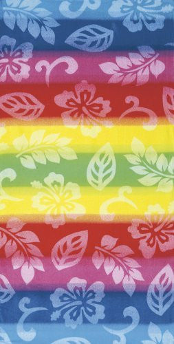 Multicolor III Velour Beach Towel 34x64 inches Made in Brazil - SHOPME.COM