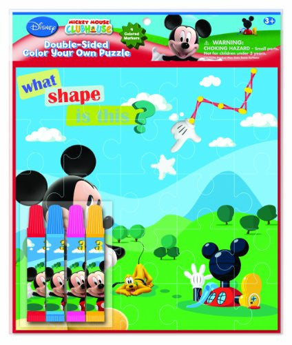 National Design Mickey Double-Sided Puzzle Set 7 x 7 Inches (12836A) - SHOPME.COM