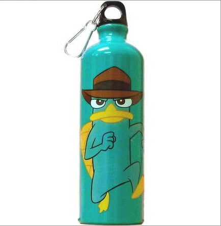 Disney Marching Agent Perry Phineas & Ferb Aluminium Water Bottle - SHOPME.COM