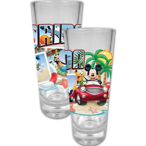 DISNEY MICKEY MOUSE AND FRIENDS FLORIDA POSTCARD SHOT GLASS by Disney - SHOPME.COM